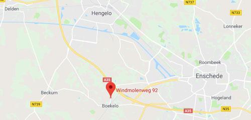 Autobedrijf Hulscher Boekelo - Route